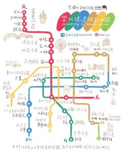 雙北捷運跑步地圖
