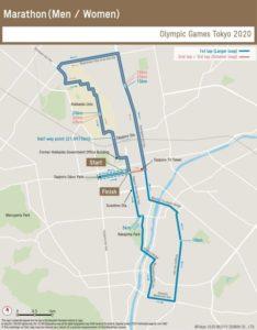 2020東京奧運馬拉松路線圖